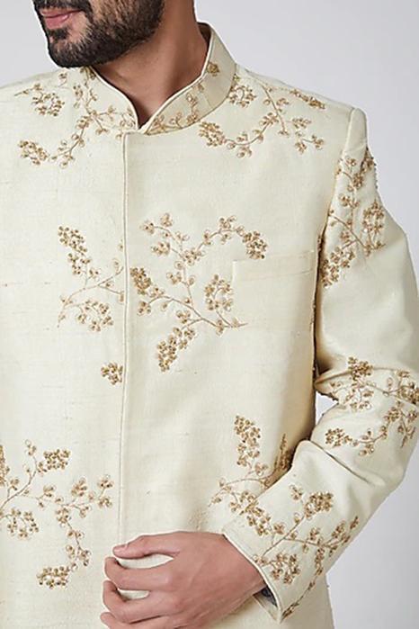 Embroidered Silk Sherwani