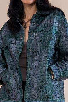 Handwoven Satin Silk Jacket