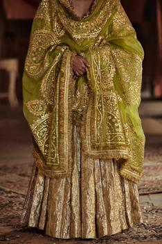 Embroidered Layered Kalidar Anarkali with Dupatta