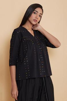 Cotton Embroidered Top