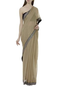 Saree with unstitched blouse fabric