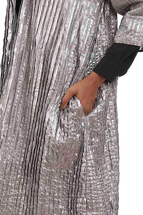 Pleated Metallic Jacket
