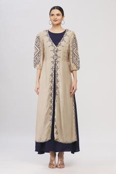 Dress with Embroidered Jacket