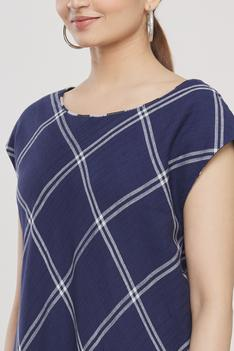 Handloom Cotton Checkered Dress