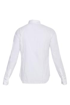 Panel Plain Collared Shirt
