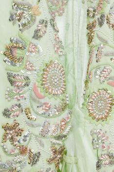Bead Embroidered Cutwork Jacket