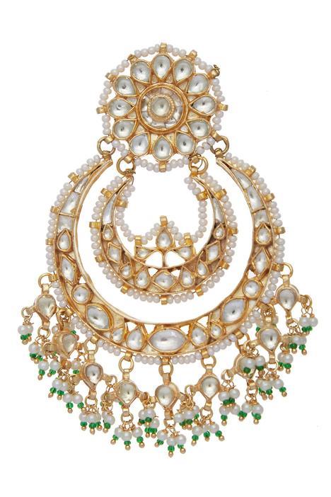Kundan Chandbali Earrings