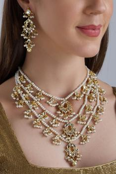 Bead Layered Necklace Set