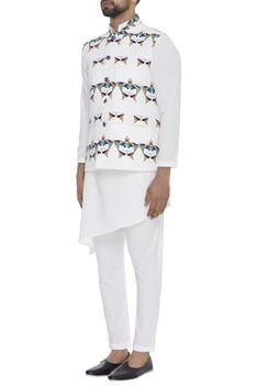 Geometric Digital Printed Nehru Jacket