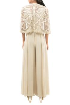 Embellished Jumpsuit with Cape