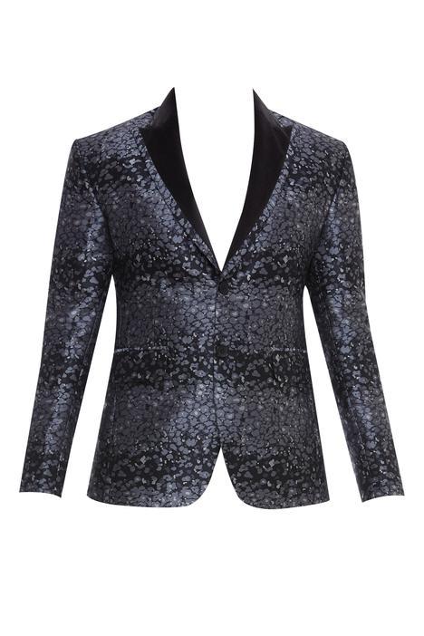 Printed blazer jacket