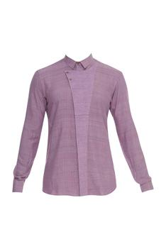 Flapover Style Collared Shirt