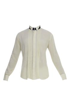 Pintuck Shirt With Cutaway Collar