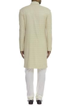 Jaal Embroidered Sherwani Set