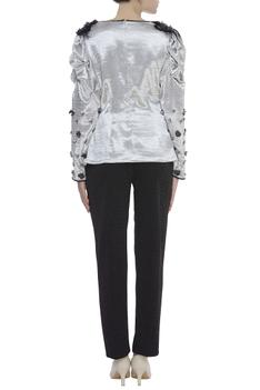 Hand embroidered top with pant