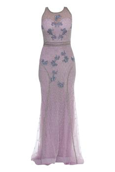 Crystal & Sequin Embroidered Gown
