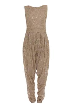 Embroidered Jumpsuit With Cape