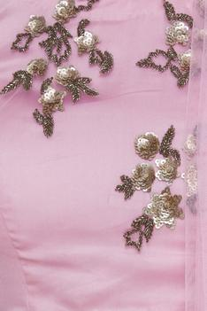 Sequin embrodiered blouse with lehenga & dupatta
