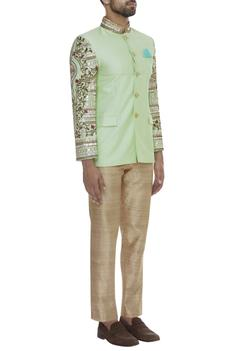 Embroidered bandhgala with trouser pant