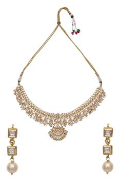 Kundan bead necklace & earring set