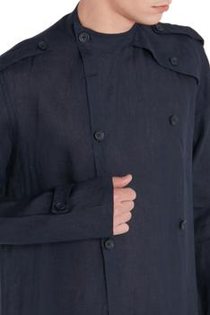Button Front Long Shacket