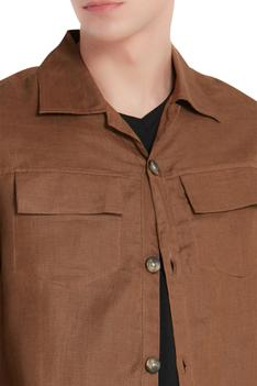Button Front Collared Jacket