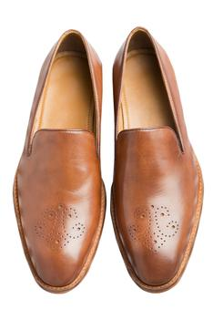 Brown Brogues with block heels