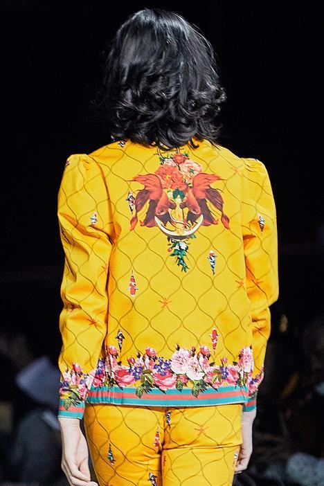 Front Zipper Floral Printed Jacket