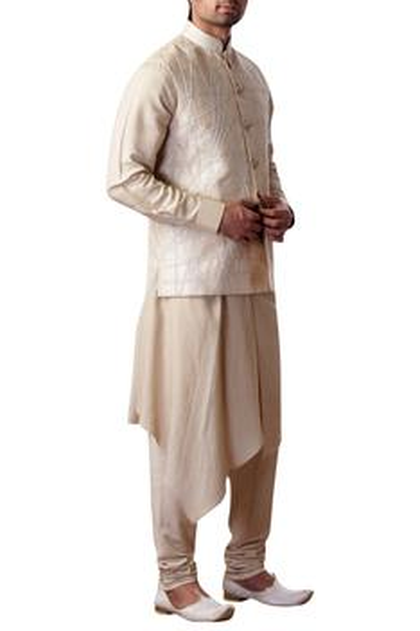 Embroidered nehru jacket & kurta set