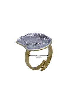 Textured Coin ring