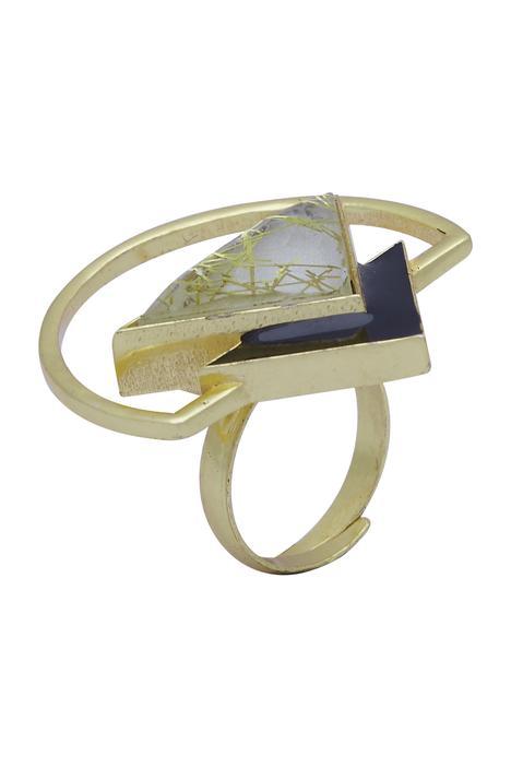 Geometric finger ring