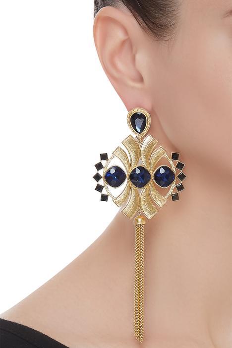 Symmetric Tassel earrings