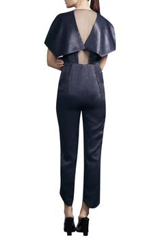 Draped Embroidered Jumpsuit