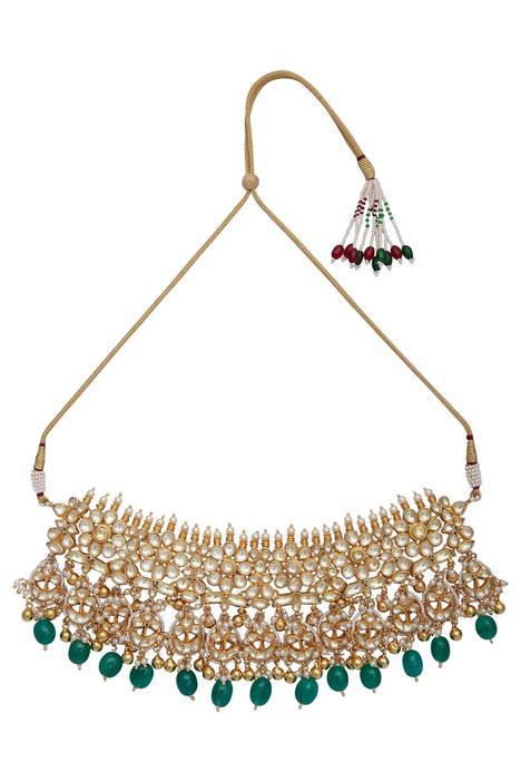 Kundan & bead necklace set