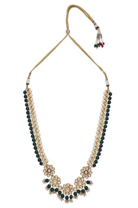 Bead & kundan necklace set
