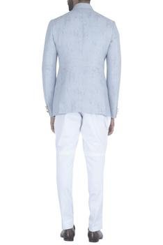 Textured bandhgala with breeches