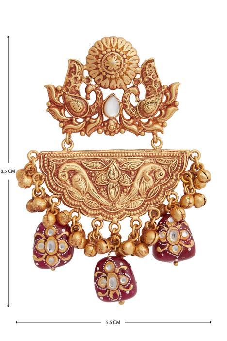 Hand painted bead earrings