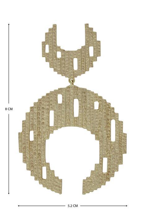 Textured Dangler Earrings