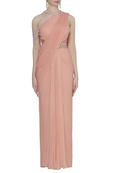 Embellished Saree Gown