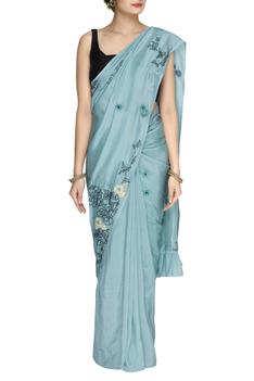 Mulberry silk saree with running blouse