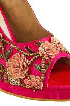 Embroidered slingback stilettos