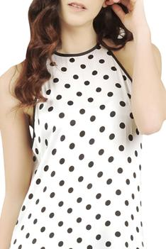 Polka Dot Print Cover up Dress