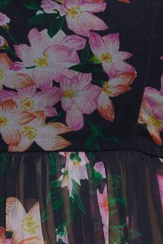 Floral printed top with skirt