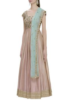 Embroidered anarkali set