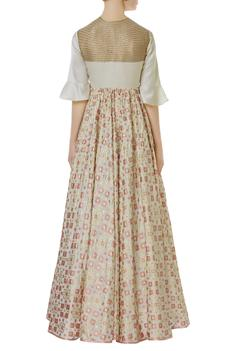 Printed & Embroidered Gown