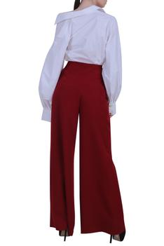 Shirt with wide pant set