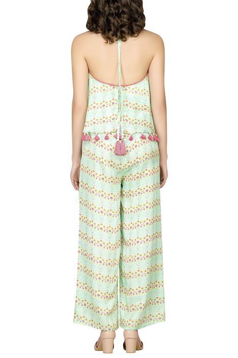 Cotton Silk Printed Jumpsuit