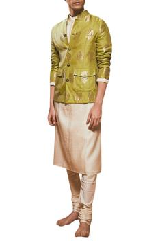Chanderi jacket with kurta