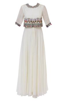 Embroidered Cape Style Tunic