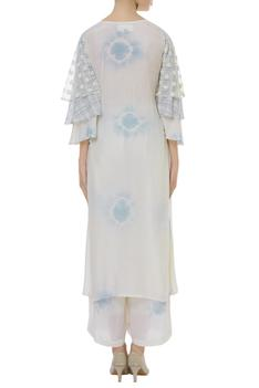 Layered sleeve kurta with palazzo